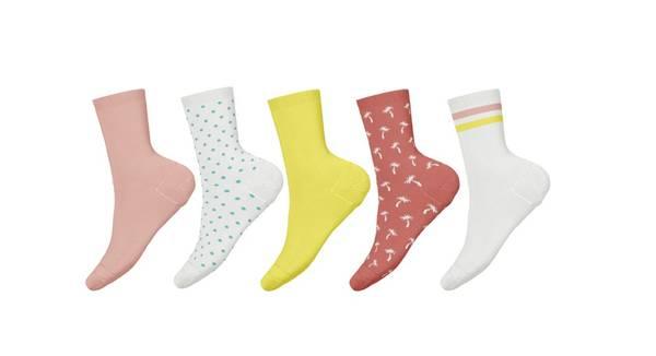 Bilde av NkfVilde 5p sock - Bright White