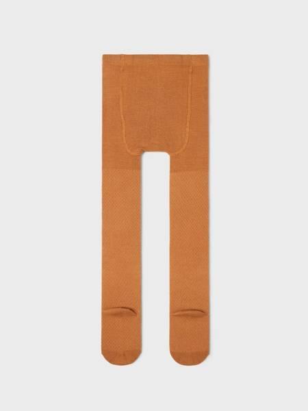 Bilde av NkfWakma wool cable pantyhose - Brown Sugar
