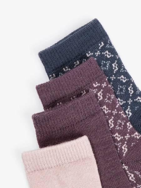 Bilde av NbfWak wool 4 pack sock - Burnished Lilac
