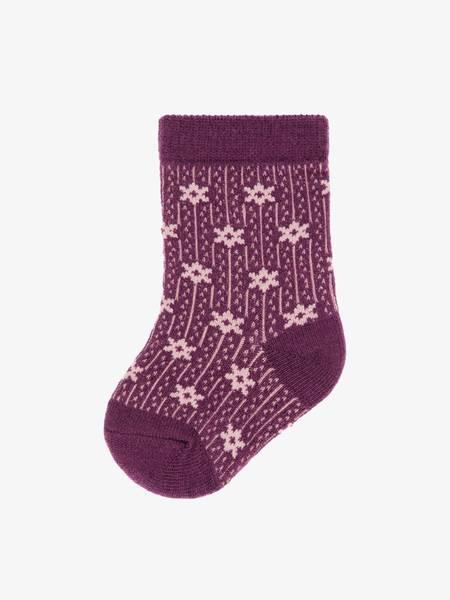 Bilde av NbfWak wool 4 pack sock - Woodrose