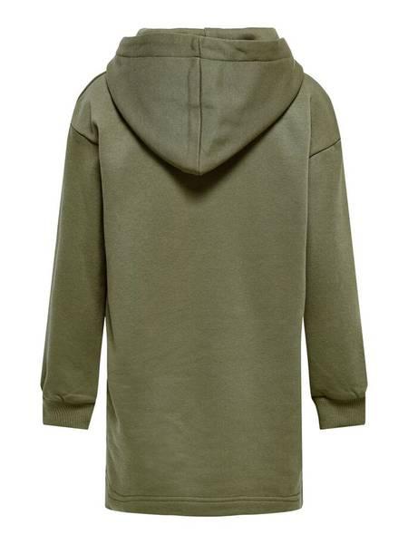 Bilde av KonEvery life hoodie sweat dress - Dusky Green