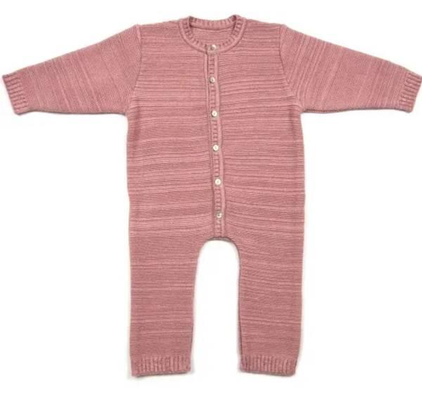 Bilde av Huttelihut Babysuit Cotton/Wool – Dusty Rose